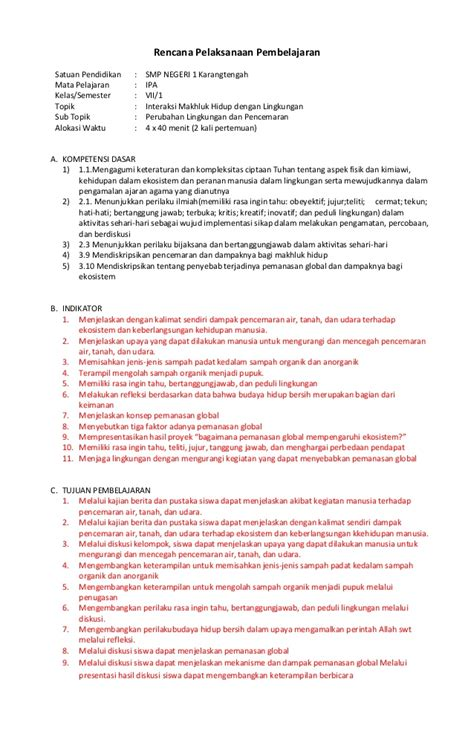 Explore Ipa Untuk Smp Mts Kelas 7 Kur 2013 Revisi 31 rpp perubahan dan penc ipa