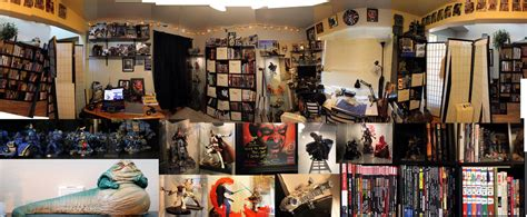 Bedroom Decorating Ideas On A Budget 360 view of the nerd cave art studio by warui shoujo