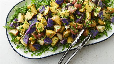 tri color potatoes tricolor potato salad recipe tablespoon