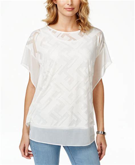 Macys Blouse sleeve blouse macy lace henley blouse