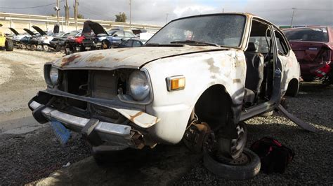 honda junkyard junkyard find 1978 honda civic hatchback