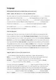 Capital Iq Written Test Papers For Mba Finance by Language Tasks Worksheet By Amiri12