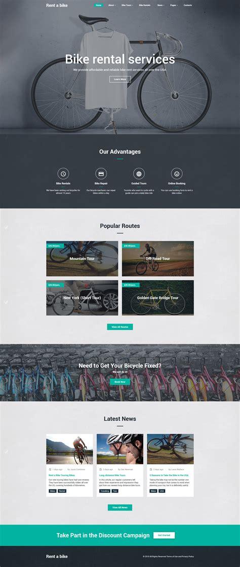 Bike Shop Site Template Bike Shop Website Template