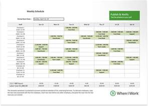employee scheduling excel template free excel template for employee scheduling when i work