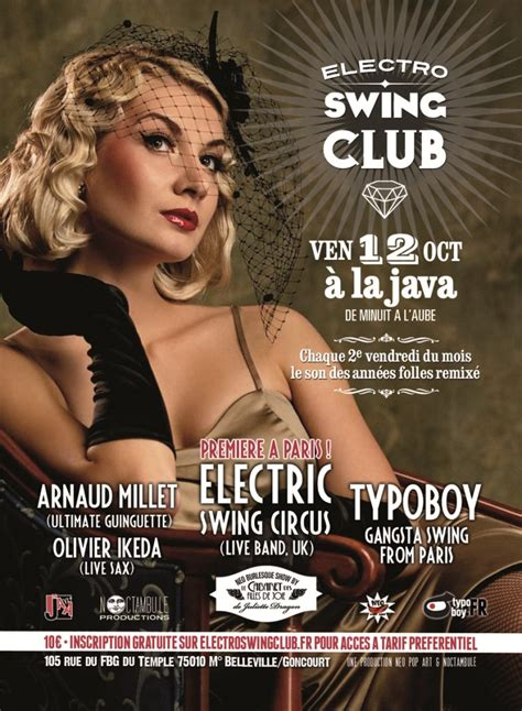 swing music clubs ra electro swing club at java la paris 2012