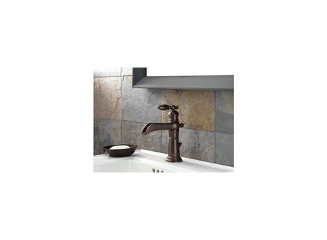open top bathroom faucet faucet com 554 pt in aged pewter by delta