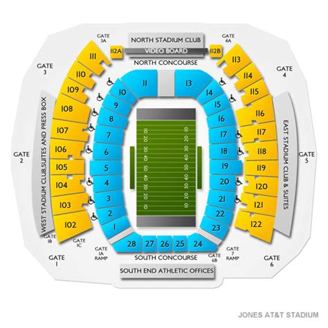 jones seating chart jones at t stadium tickets jones at t stadium seating