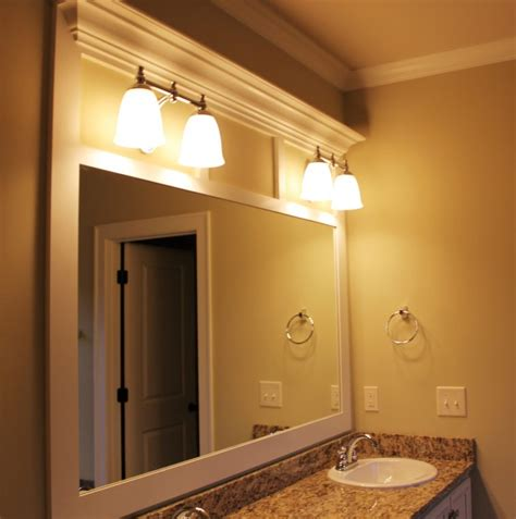 wood framed bathroom vanity mirrors bathroom ideas white polished wood large rectangle custom