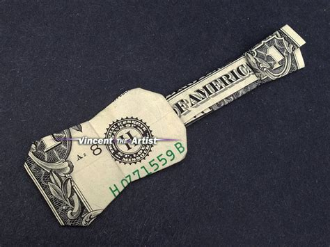 Origami Guitar Dollar Bill - ukulele guitar money origami by vincent the