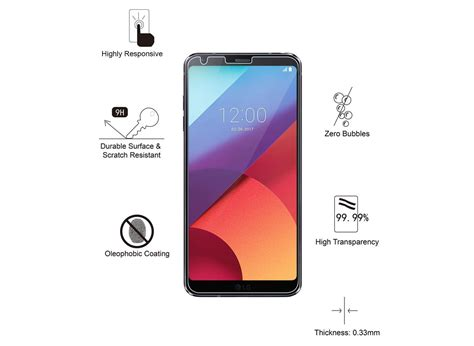 Ume Tempered Glass Screen Protector For Lg G6 Transparan best lg g6 screen protectors