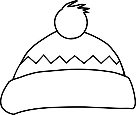coloring page of winter hat white winter hat clip art at clker com vector clip art