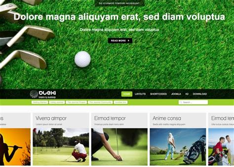 bootstrap themes free golf ol blexi olweb joomla fonts bootstrap