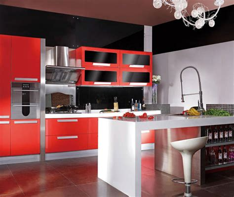 red and black kitchen cabinets red and black kitchen design in kitchen cabinets from home