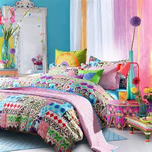 Peacock Comforter Set Bright Colorful Bohemian Indiana Tribal Print Luxury And