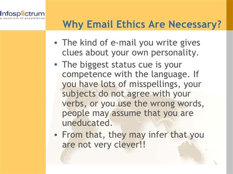 email ethics e mail ethics and etiquettes