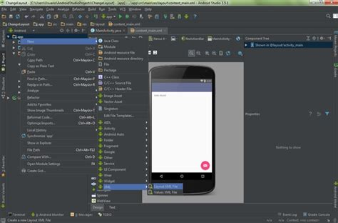 android studio edit layout xml cambiar de layout android studio mundo choc cac