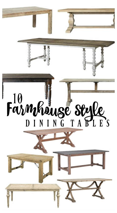 farmhouse style dining table 50 best farmhouse style dining room table