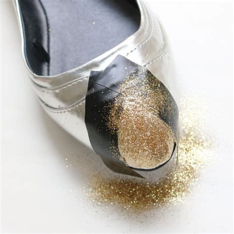 Glitter Flats Wedding by Embellished Geometric Glitter Flats Weddingbee