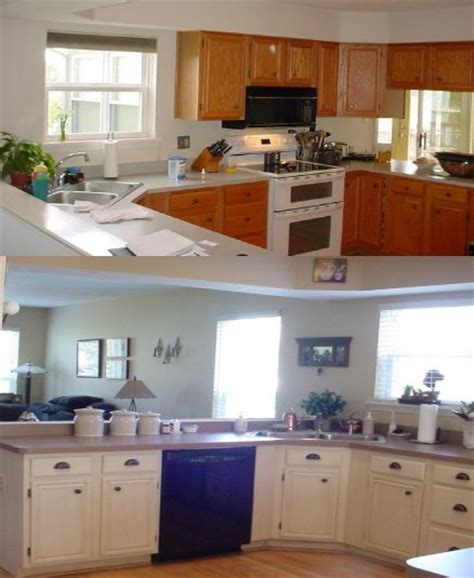 Before And After Painted Kitchen Cabinets Kitchen Trends Painting Kitchen Cabinets Before And After