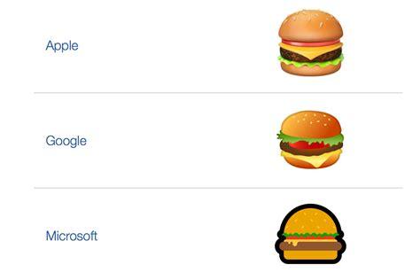 google x imagenes google ceo makes fixing hamburger emoji his top priority