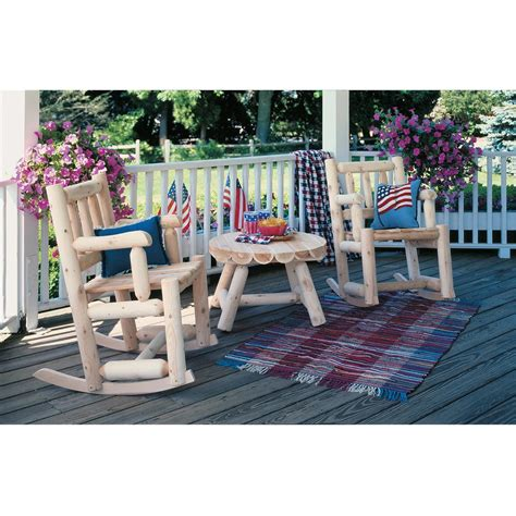 Cedar Log Patio Furniture by Rustic Cedar Furniture Company 174 Cedar Log Porch