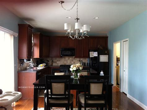 our mini kitchen makeover with sherwin williams harmony paint digger