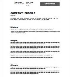 company profile template document hub