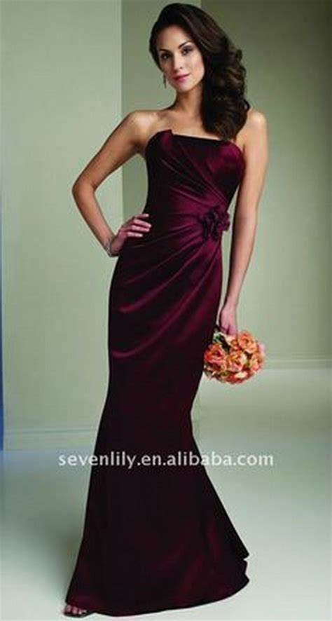 wine color dress wine colored bridesmaid dresses