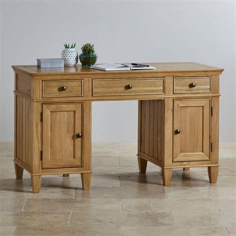 oak furniture land computer desk classic computer desk in natural solid oak oak furniture