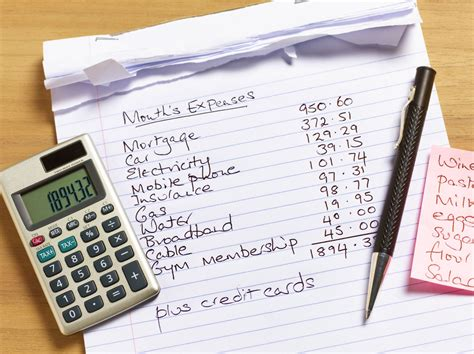 step guide  creating  monthly household budget