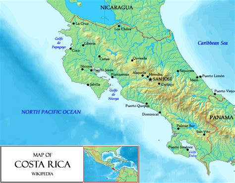 south america map costa rica map of costa rica relief map worldofmaps net