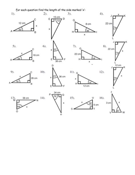 Trigonometry Worksheets by Simple Trigonometry Worksheet By Jhofmannmaths Teaching Resources Tes