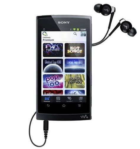 Sony Android Multimedia Player sony introduces walkman z portable media player talkandroid