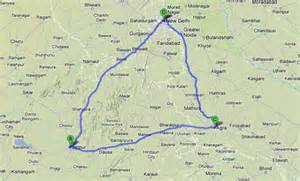 golden triangle map golden triangle tour in india delhi agra jaipur tour