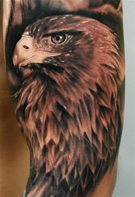 eagle sleeve tattoo arm realistic eagle by russo