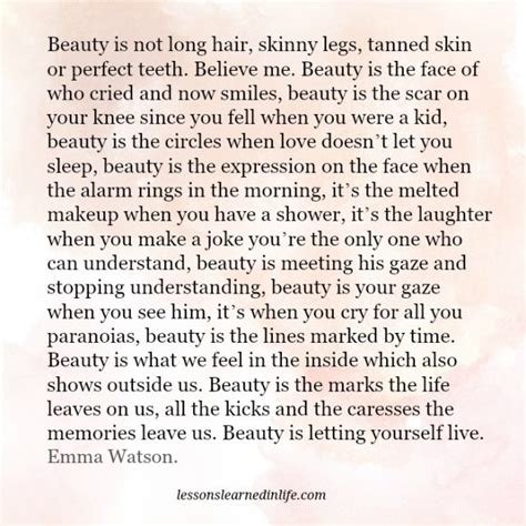emma watson quotes on beauty lessons learned in lifebeauty by emma watson lessons