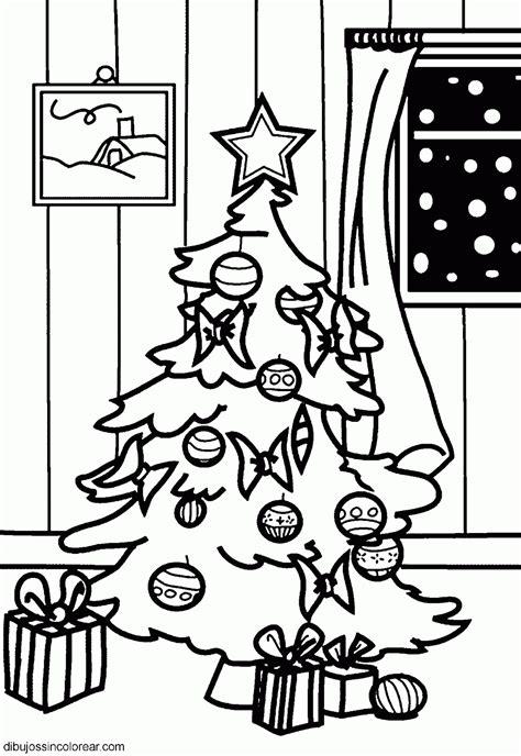 imagenes de navidad sin colorear dibujos de arboles de navidad para colorear