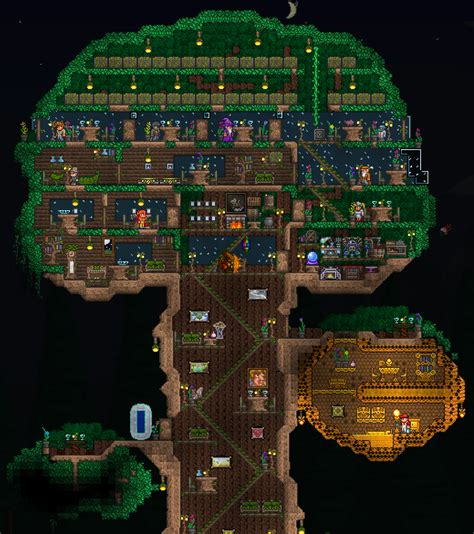 terraria tree house terraria big tree house pictures to pin on pinterest pinsdaddy