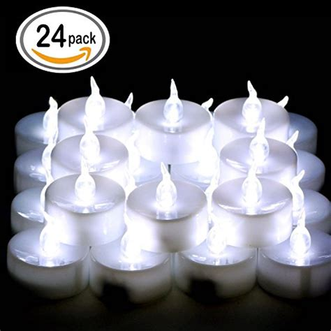 bright battery operated tea lights omgai 24 pcs led tea lights candles battery powered small