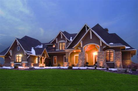 5 bedroom home craftsman style house plan 5 beds 4 baths 5077 sq ft