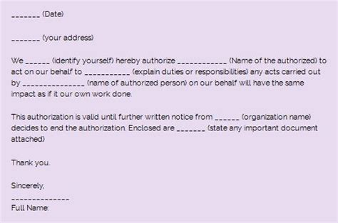 authorization letter to use digital signature sle authorization letter and how to write one kenyayote