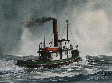 Wall Painters by Steam Tugboat Katadin Painting By James Williamson