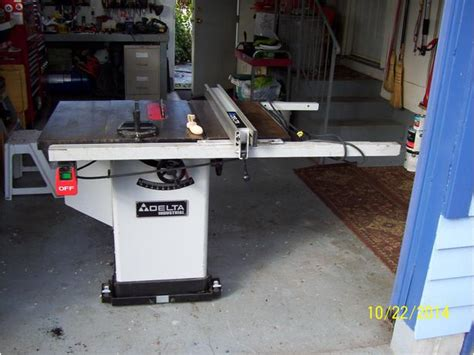 used cabinet table saw delta 10 inch table saw outside