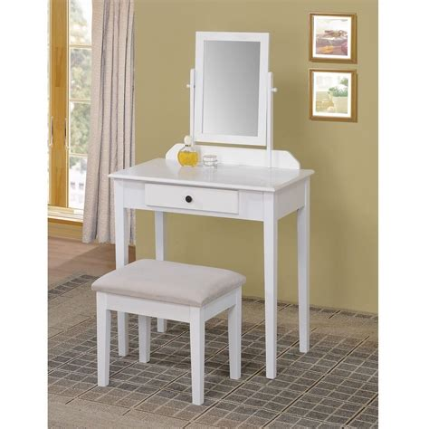 white vanity bench 3 pc vanity set adjustable mirror vanity bench stool white
