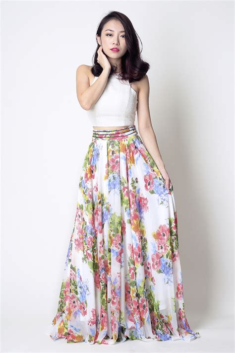 Maxi Flowery floral maxi skirt dress