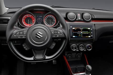 interior suzuki swift 2018 suzuki swift sport interior confirms manual 1 0t