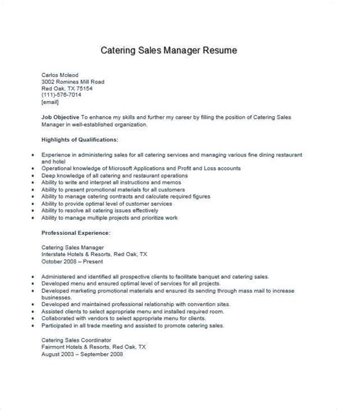 Catering Assistant Manager Sle Resume by 36 Manager Resumes In Word