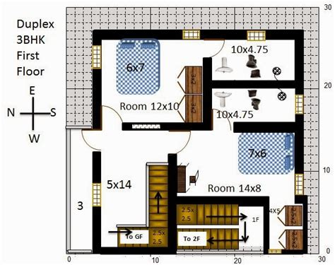 30x30 house plans my little indian villa 13 r6 2 houses in 30x30 west facing requested plan