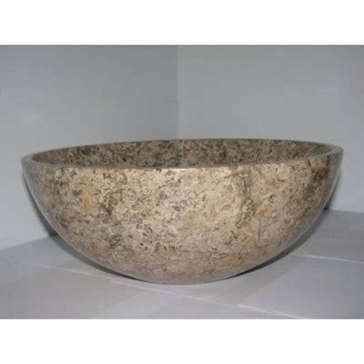 14 inch bathroom sink 14 inch fossil marble bathroom sink round vessel style for