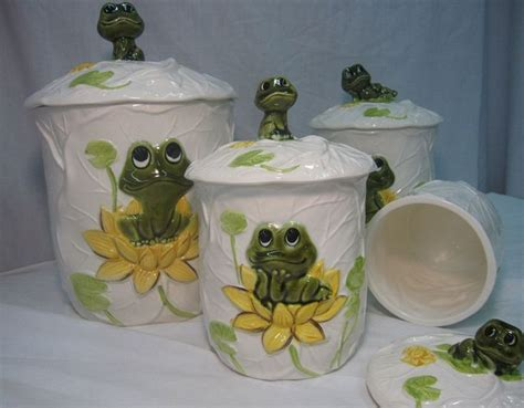 ceramic canisters sets for the kitchen neil the frog complete 8 piece kitchen ceramic canister